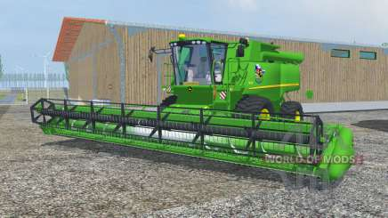John Deere S690i dark pastel green para Farming Simulator 2013