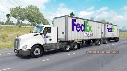 Painted Truck Traffic Pack v2.1 para American Truck Simulator