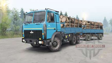 MAZ-6317 cor azul para Spin Tires