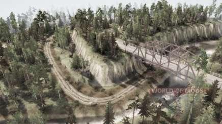 A intersecção de seis estradas para MudRunner