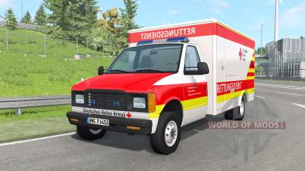 Gavril H-Series German Ambulance v1.4 para BeamNG Drive