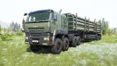 KamAZ-65228 cinzento-cor verde para MudRunner