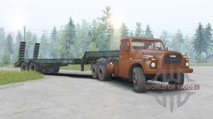 Tatra T148 6x6 v1.2 cor-de-laranja escuro para Spin Tires