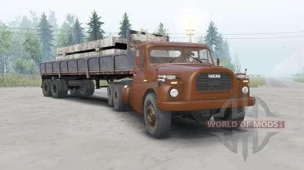 Tatra T148 6x6 v1.1 cor cereja para Spin Tires