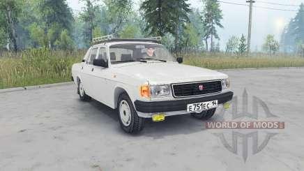 GAZ-31029 Volga cor cinza claro para Spin Tires