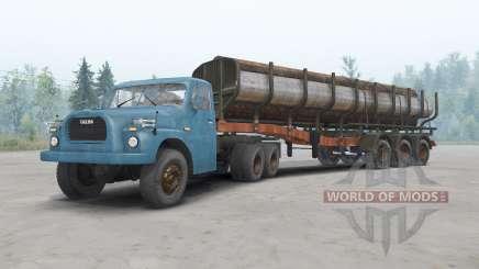 Tatra T148 6x6 v1.2 cor azul para Spin Tires