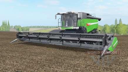 Fendt 9490 X with baler attacher para Farming Simulator 2017