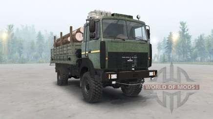 A MAZ-5316 cor verde escuro para Spin Tires