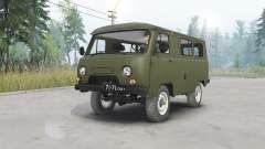 UAZ-452 escuro cinzento-verde para Spin Tires