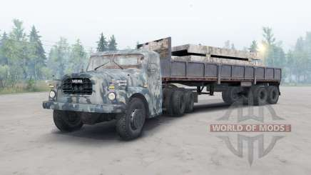 Tatra T148 6x6 v2.2 camuflagem azul para Spin Tires
