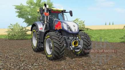 A New Holland T7.290 Vermelho Rikiᶒ para Farming Simulator 2017