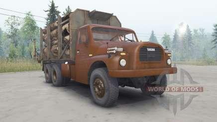 Tatra T148 6x6 v2.2 cor cereja para Spin Tires