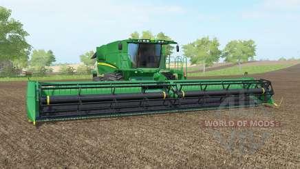A John Deere S690i pantone greeꞑ para Farming Simulator 2017