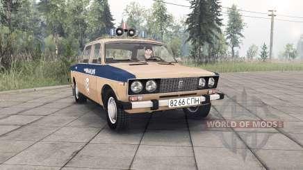 VAZ-2106 Lada Polícia União Soviética para Spin Tires