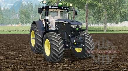 A John Deere 6210R Preto Editioꞑ para Farming Simulator 2015