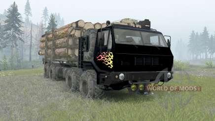 KrAZ-7E-6316 Sibéria para Spin Tires