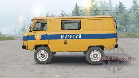 UAZ-3962 URSS Polícia para Spin Tires