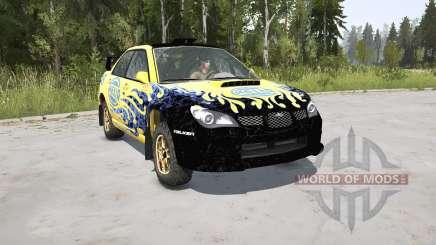 Subaru Impreza WRX STi Spec C N12 Rallycar 2007 para MudRunner