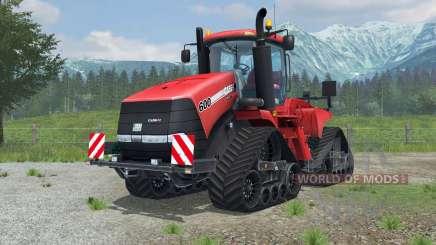 Case IH Steiger 600 Quadtrac license plate para Farming Simulator 2013
