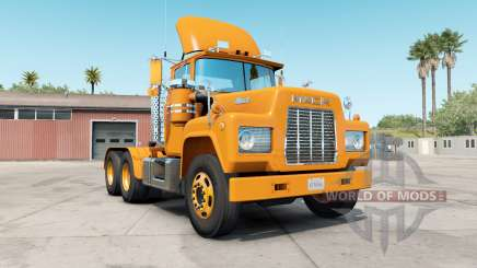 Mack R-series safety orange para American Truck Simulator