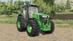 John Deere 7R-series tires little bigger para Farming Simulator 2017