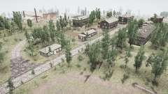 A aldeia e o rio Ural Rebe 2 para MudRunner