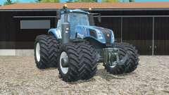 New Holland T8.320 double wheels para Farming Simulator 2015