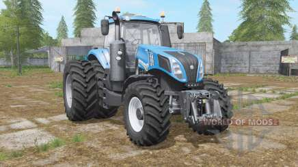 New Holland T8-series with dual wheel para Farming Simulator 2017
