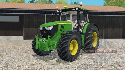 John Deere 6R-series twin wheels para Farming Simulator 2015