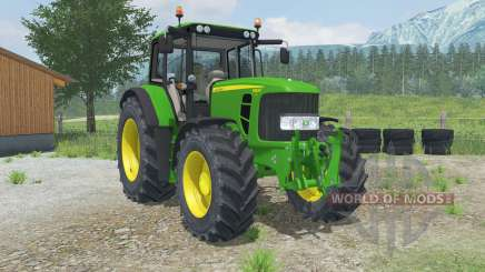 John Deere 6830 Premium adjustable tow hitch para Farming Simulator 2013