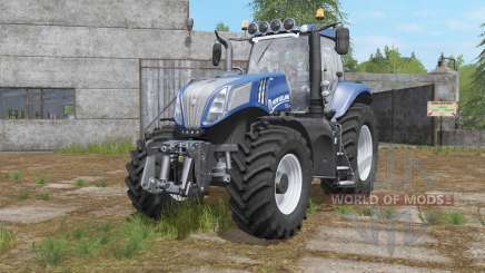 New Holland T8-series with additional light para Farming Simulator 2017