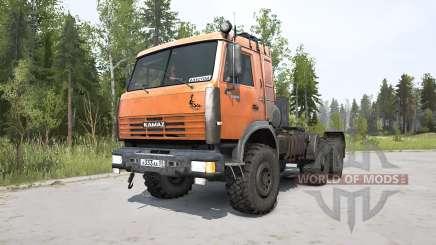KamAZ-44108 laranja brilhante para MudRunner