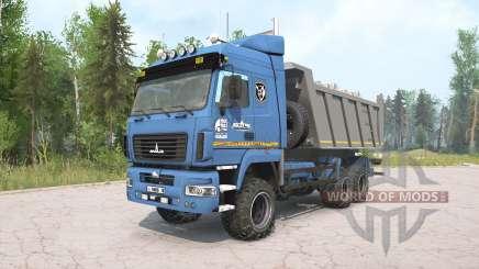 MAZ-6514H9 cor azul para MudRunner