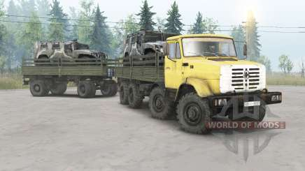 ZIL-133ГМ 8x8 para Spin Tires