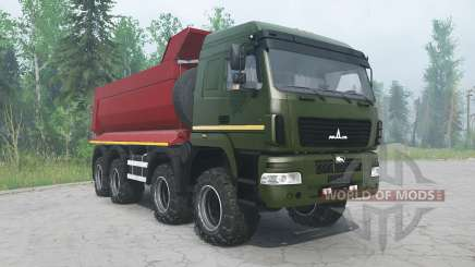 MAZ-6516В9 cor verde para MudRunner