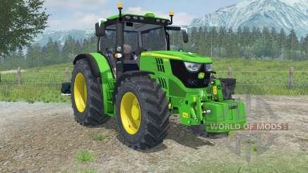 John Deere 6150R dynamic exhaust para Farming Simulator 2013