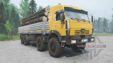 KamAZ-6350 cor amarela para MudRunner