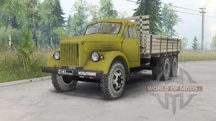 GAZ-51 alongada triaxial para Spin Tires