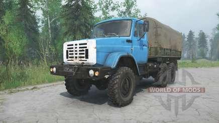 ZIL-4334, de cor azul, para MudRunner