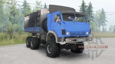 KamAZ-4310 azul brilhante para Spin Tires