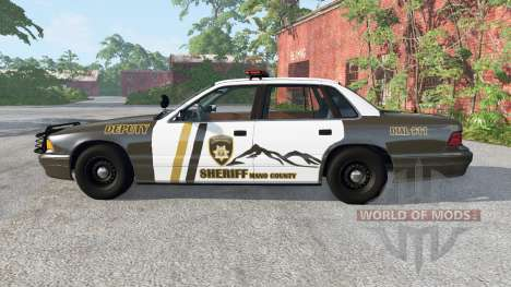 Gavril Grand Marshall Mano County Sheriff para BeamNG Drive