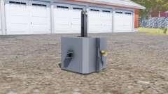 Front weight 1500 kg. para Farming Simulator 2013