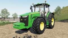 John Deere 8R new steering console and seat para Farming Simulator 2017