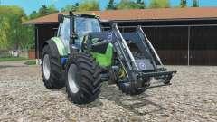 Deutz-Fahr 7250 TTV Agrotron frontlader para Farming Simulator 2015