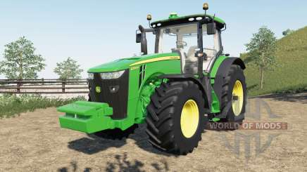 John Deere 8R new steering console and seat para Farming Simulator 2017