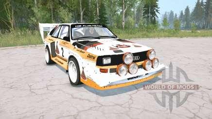 Audi Sport quattro S1 Pikes Peak 1987 para MudRunner