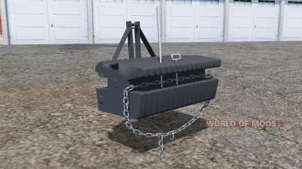 Front weight with movable chain para Farming Simulator 2013