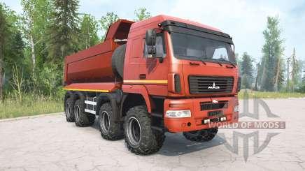 MAZ-6516В9 cor vermelha para MudRunner