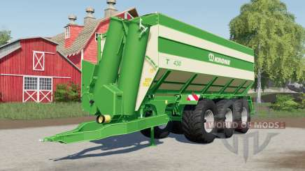 Krone TX 430 optional rear trailer hitch para Farming Simulator 2017