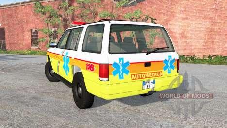 Gavril Roamer Automedica para BeamNG Drive